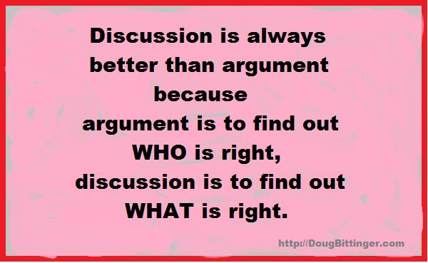 Discussion vs argument