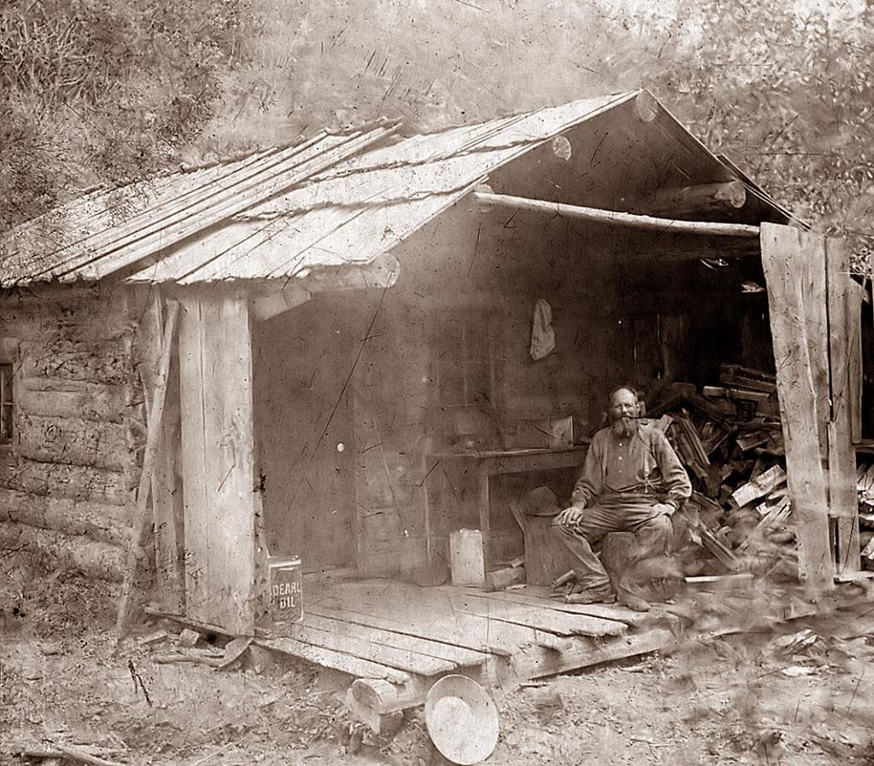 Miners cabin of old.