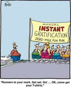 instant gratification, clothes