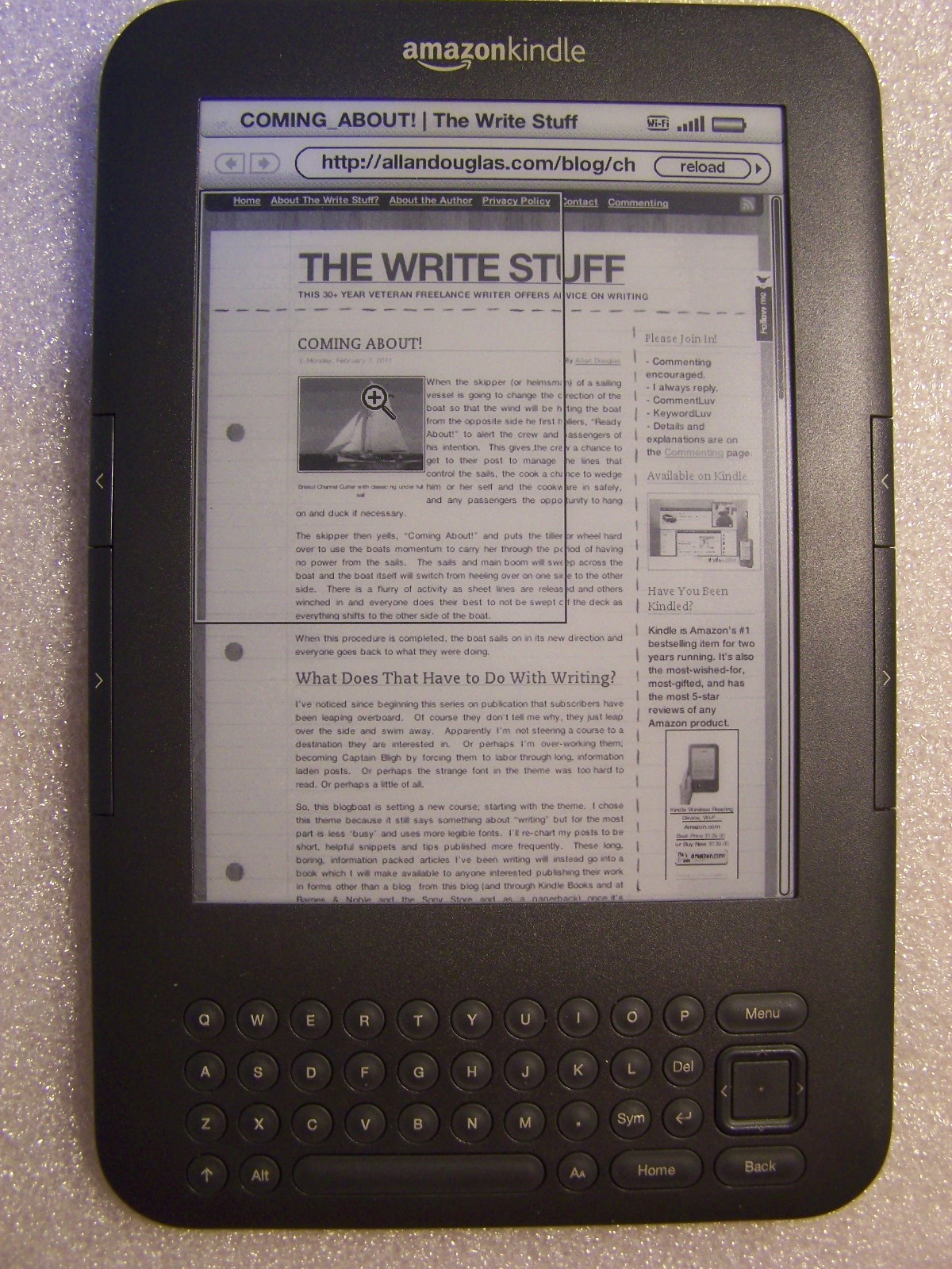 kindle in web mode
