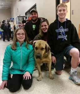 Lancelot's new family, pet adoption
