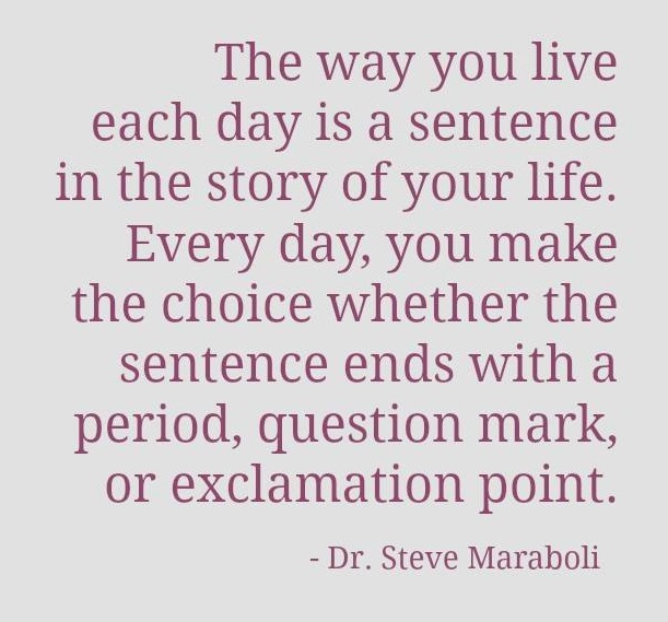 each day is a sentence