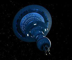 spaceship, colony ship