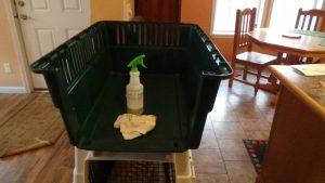 Crate scrubbing